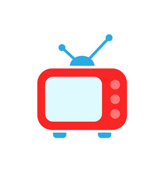 Television monitor in flat style tv screen on vector