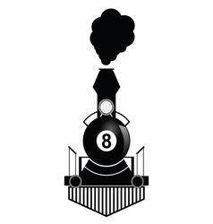 Train with eight ball vector