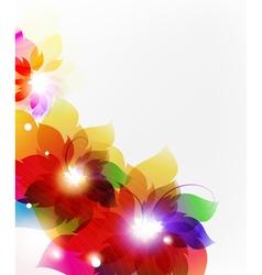 Transparent flowers vector