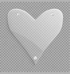Transparent heart with a conical gradient vector