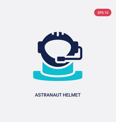 Two color astranaut helmet icon from astronomy vector