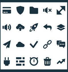 user icons set with resize arrow undo and other vector image