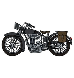 Vintage dark motorcycle vector