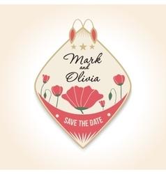 vintage design wedding badges For wedding vector image