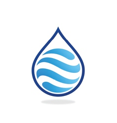 water drop wave abstract logo vector image