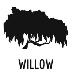 Willow tree icon simple black style vector