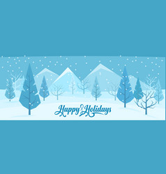 winter abstract landscape vector image