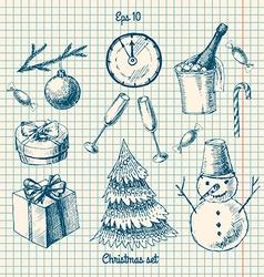 Winter - doodles set vector