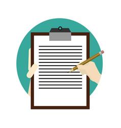write note school activity cartoon graphic design vector image