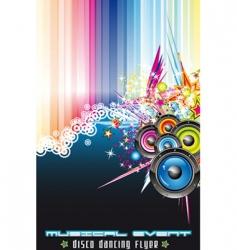 disco dancing flyer vector image vector image