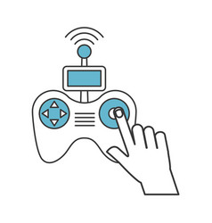 hands human with drone remote control icon vector image vector image