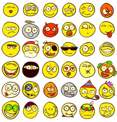 Smilies vector image vector image