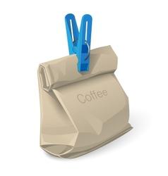 bag of coffee vector image vector image