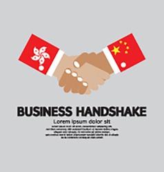 Business Handshake Hongkong and China vector image