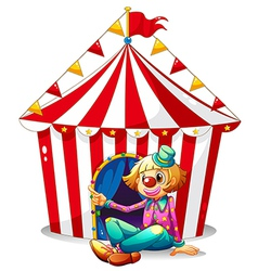 Circus Clown Tent vector image vector image