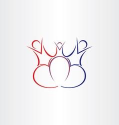 family love symbol design vector image vector image