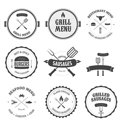 Restaurant menu vintage design elements set vector image vector image