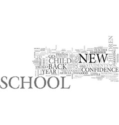 back to school advice text word cloud concept vector image