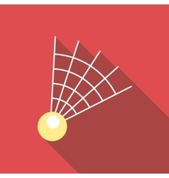 Badminton shuttlecock icon flat style vector image vector image