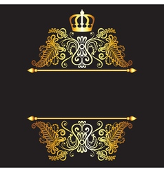 Black baground with royal frame vector image