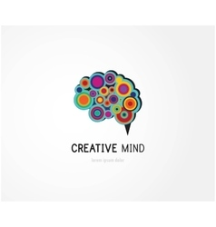 Creative digital abstract colorful icon of human vector image