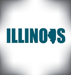 Illinois state graphic vector image vector image
