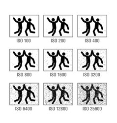photography cheat sheet in icons iso vector image vector image