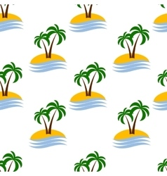 seamless palm pattern vector image vector image