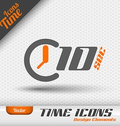 Time Icon 10 Seconds Symbol Design Elements vector image vector image