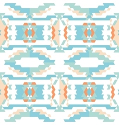 Aztec tribal seamless sky blue pattern vector image vector image