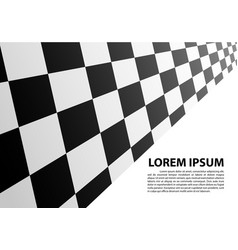 checkered perspective white blank space race vector image vector image