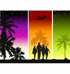 family summer holiday vector image vector image