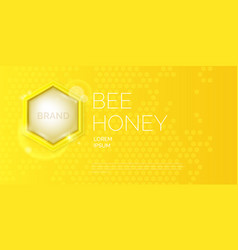 modern poster for sale of honey template for vector image