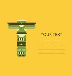 native totem pole card flyer or banner design vector image vector image