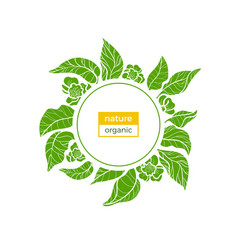 nature template green vector image