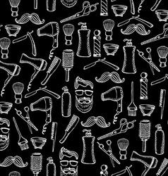 Seamless pattern background barber shop vector image vector image
