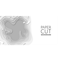 3d papercut layers paper cut art background vector image