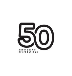 50 years anniversary celebrations template design vector