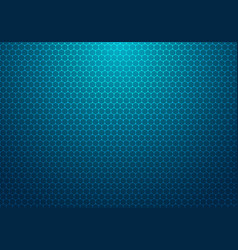 abstract blue hexagon with dot pattern technology vector image