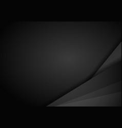 Abstract metallic modern black frame design vector