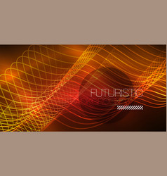Abstract shiny glowinng color wave design element vector