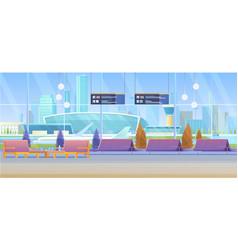 airport lounge cartoon flat vector image