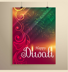 Amazing indian happy diwali festival greeting vector