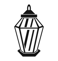 Arabic lantern icon simple style vector image