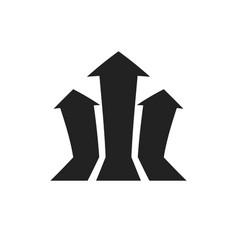 arrow growing graph icon progress arrow grow sign vector image