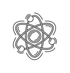 atom or molecule icon science logo vector image