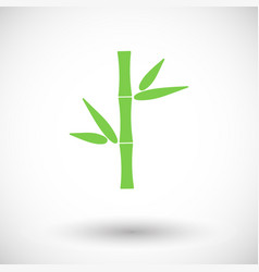 Bamboo flat icon vector
