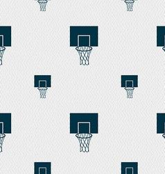 Basketball backboard icon sign Seamless pattern vector image