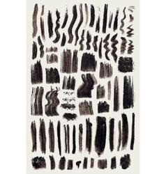 big set grunge brushes brush strokes vector image