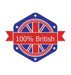 Britian flag badge vector